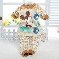 Bebé Ropa de Bebé Establece 2014 Conjuntos de Ropa Interior de Invierno Bebé ropa de Dormir de Algodón Pijamas Niñas Bebés Ropa para niños