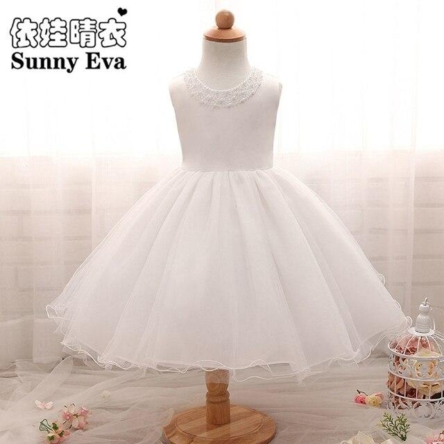 Sunny Eva Party Girl Dress Children Christmas White Wedding Dresses For Girls Princess Kids