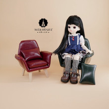 1/6 Scale European Style Leather Sofa Couch Chair Model for Dollhouse miniature Furniture for dolls Decor Accessories цена 2017