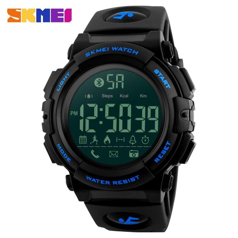 SKMEI Men Sport Smart Watch Bluetooth Outdoor Mens Clock Watch APP Remind Man Top Brand Digital Wrist Watches reloj hombre 1303