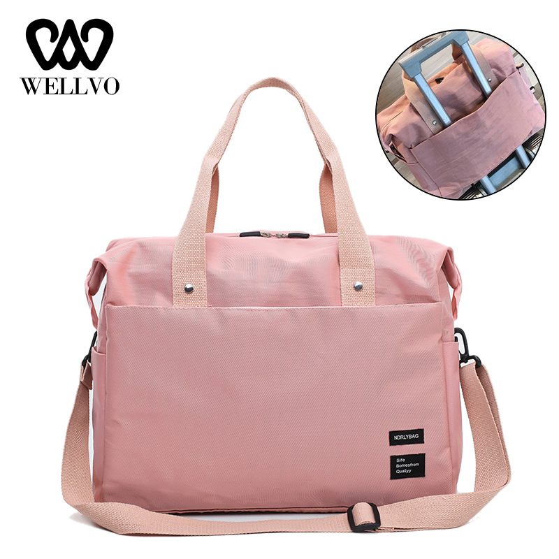 Women Duffel Luggage Bag Soft Travel Tote Large Capacity Bags Multi-pockets Hand Travelling Bag For Trolley Case 2019 XA665WB