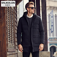 Enjeolon BrandCotton Padded Hooded Jacket Men windproof,Parka Men Clothing Thick Quilted long type Coat,Mens Hoodies WT0256