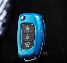 Auto key wallet cover protective case for Hyundai ix35 Santafi IX45 Verna Solaris 2014, free shipping