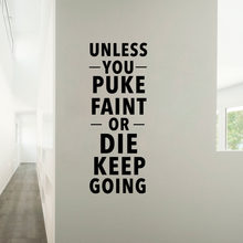 Amazon extra large gym wall decal no pain no gain