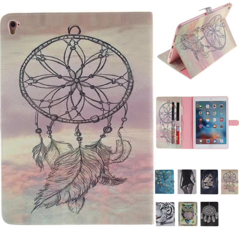Cover For iPad Pro 9.7 inch,owl lion Tiger PU Leather Smart Stand Shell Tablet Case For ipad Pro 9.7 with Auto Wake Up/Sleep