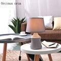 Скандинавский минималистичный Современный серый керамический Настольный светильник для гостиной  спальни  лампа в американском стиле  кре...