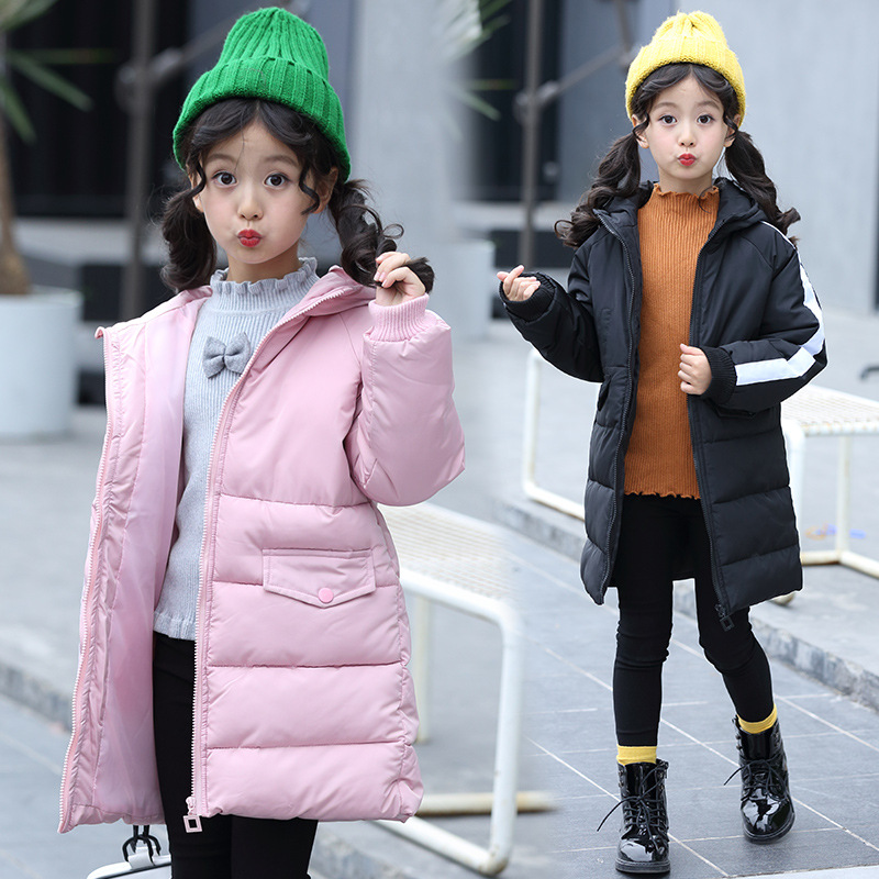 Kids Winter Jacket Coat Winter Tops 2018 Warm Long Hooded Big Teens Girls Winter Down Coats Children Clothing Winterjas Meisjes baby girls jackets 2018 winter jacket for girls winter coat kids clothes children warm hooded outerwear coats winterjas meisjes