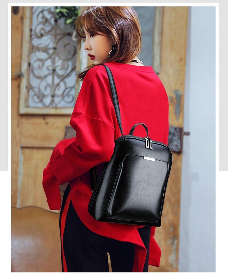 HTB1hJVrXjfguuRjy1zeq6z0KFXaC Vintage Backpack Female Brand Leather Women's backpack Large Capacity School Bag for Girls Leisure Shoulder Bags for Women 2018