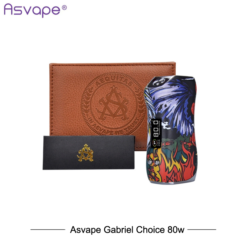 New Electronic Cigarettes Mod Asvape Gabriel Choice Mod 80w Temperature control ASV80 ChipSet 510 Vaporizer Mod