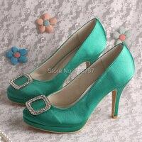 20 цветов новинка высокий каблук свадебные туфли зеленый сатин прямая поставка пользовательские ручной бесплатная доставка