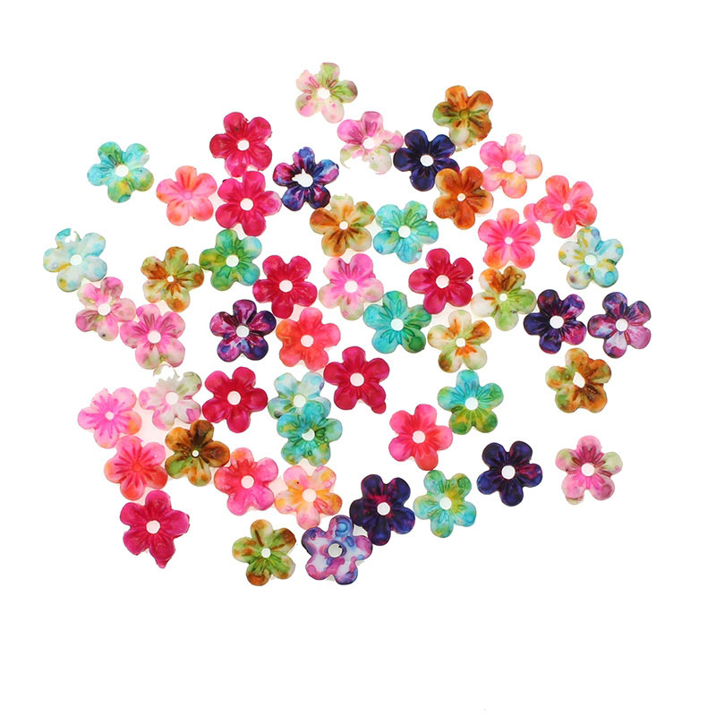 100pcs White Pearl Resin Daisy Flower Flatbacks Embellishments Phone Decorations