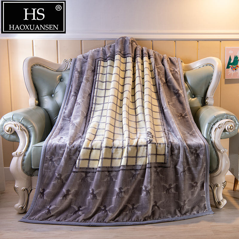 Super Soft Embossed Horse Design Blanket Thick Fleece Throw Double /& King Bed