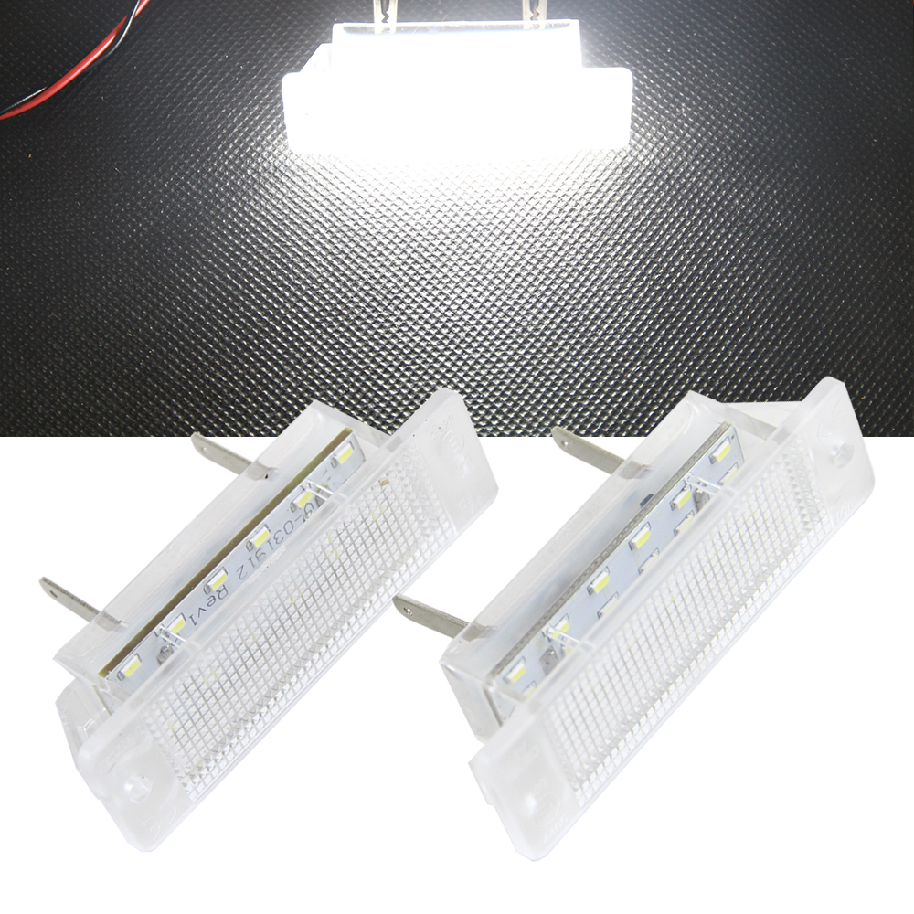 1 Pair 18# high quality SMD LED License Plate Lights fit for Opel Vauxhall Astra F/Calibra 12V canbus Led no Error Plug & Play