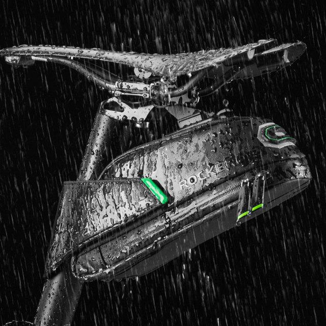 ROCKBROS Rainproof Bicycle Bag Shockproof Bike Saddle Bag For Bicycle Black Cycling Rear Seatpost Panniers MTB Bike Accessories