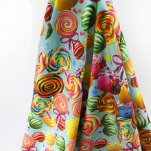 46241 50*145CM Lollipop knit fabric for Tissue Kids Bedding textile for Sewing Doll, DIY handmade materials