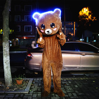 Brown Bear Cartoon Rabbit Mascot Costume Cartoon Suit Adult size Festivel day adult
