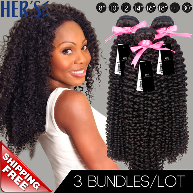 Natural Curly Weave Human Hair3 Bundles Of Cambodian Jerry Curl