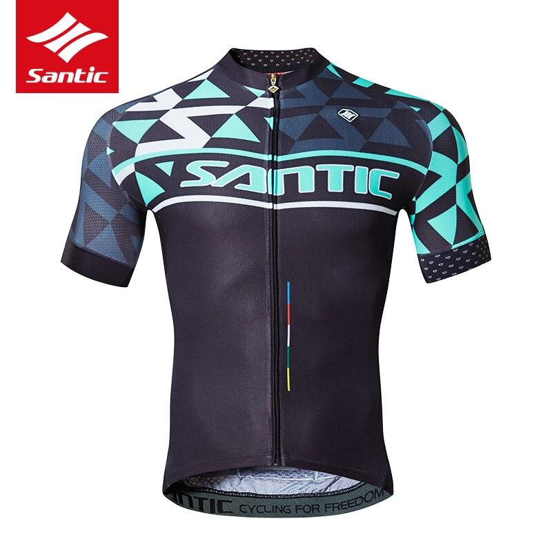 Maillot de cyclisme professionnel à manches courtes Santic maillot de vélo Anti-transpiration respirant maillot de VTT vtt Camisetas Ciclismo