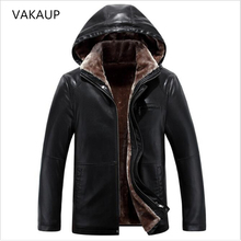 Mens jacket Middle Aged Mens Sheep Leather Coats Fur Collar Mens Fur Long Plush Thick Overcoat