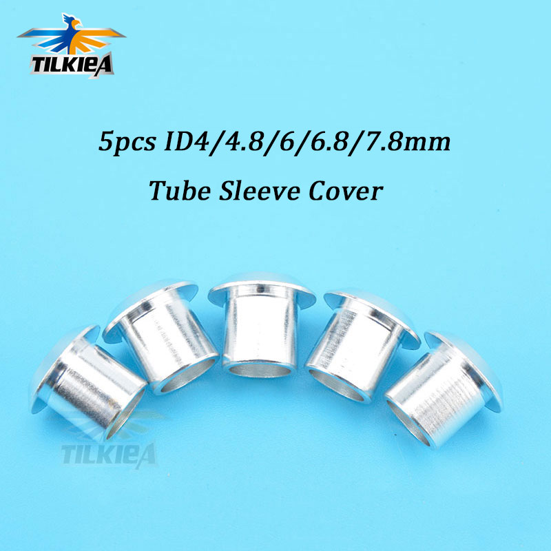 RC Boat Aluminum Water Cooling Tube Sleeve Cover ID4/4.8/6/6.8/7.8mm for 3X5mm 3X6mm 4X7mm 4X8mm  Silicone Watercooling Tube