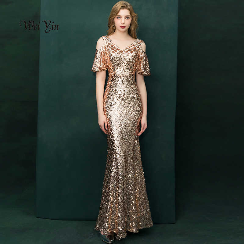 eb396ad3b7190 Detail Feedback Questions about YIDINGZS Luxury Gold Long Sequins ...