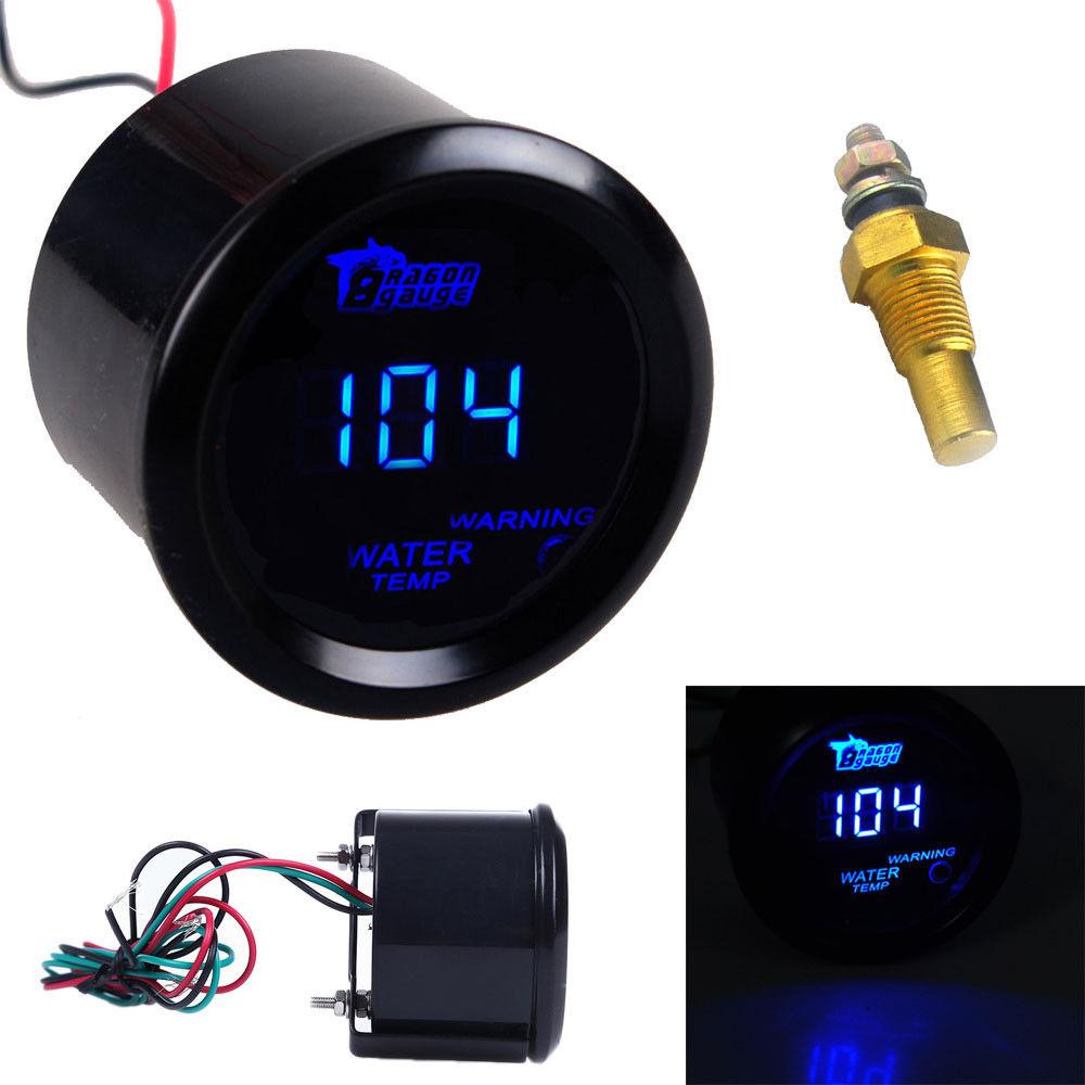 Pod US HOTSYSTEM Blue LED Digital Fahrenheit Water Temp Temperature Gauge