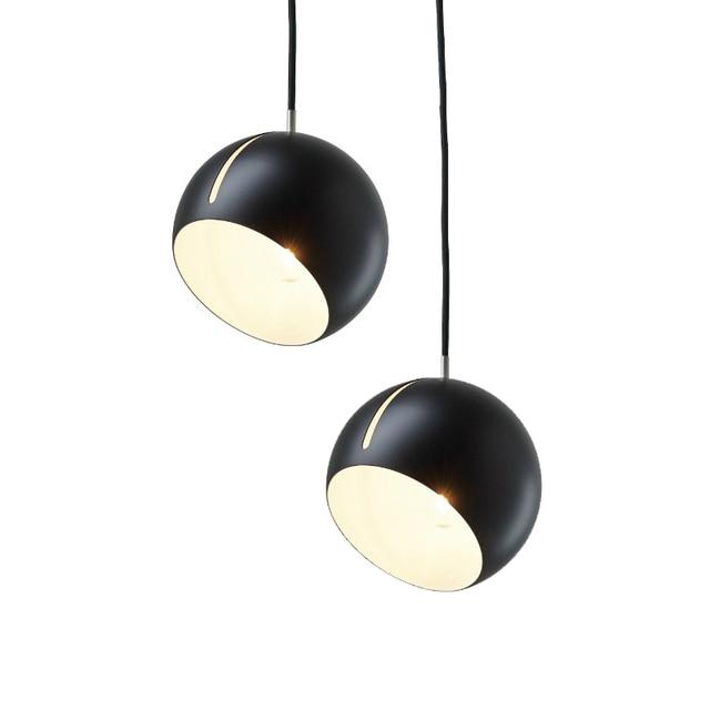 LukLoy Tilt Pendant Light Modern Simple Globe Tiltable Pendant Hanging Lamp Bedroom Bedside Kitchen Table Dining Room Lighting