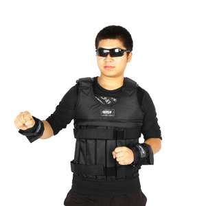 Image 2 - 20kg/50kg Adjustable Weighted Vest Loading Weights Waistcoat for Boxing Training Workout Fitness Equipment Sand Clothing