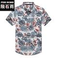 Homens marca nova camisa camisas havaí camisas floral impressão praia litoral tropical para férias de verão