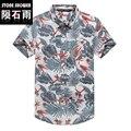 Los hombres a estrenar camisetas hawaii floral print praia playa tropical camisa camisas para vacaciones de verano