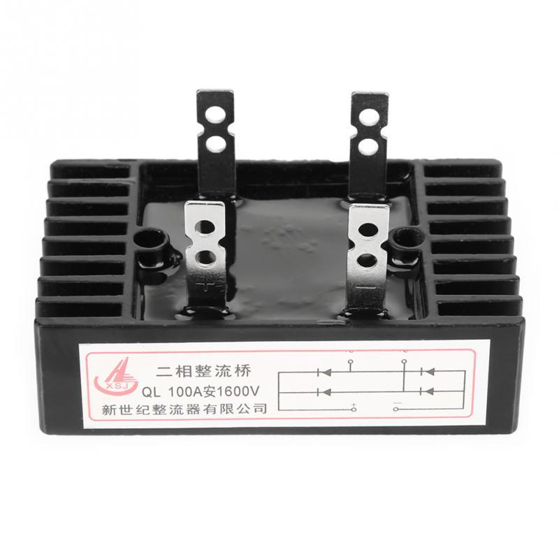 1pc 2-Phase Diode Bridge Rectifier Bridge Rectifier 100A Amp 1600V Voltage High Power Black Diode Bridge Rectifier