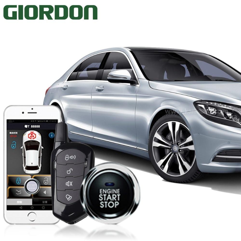 Buy Pke Car Auto Remote Central Kit Door Lock Mobile Starter Smartphone Control Alarm System Smart Passive Locking Keyless Push