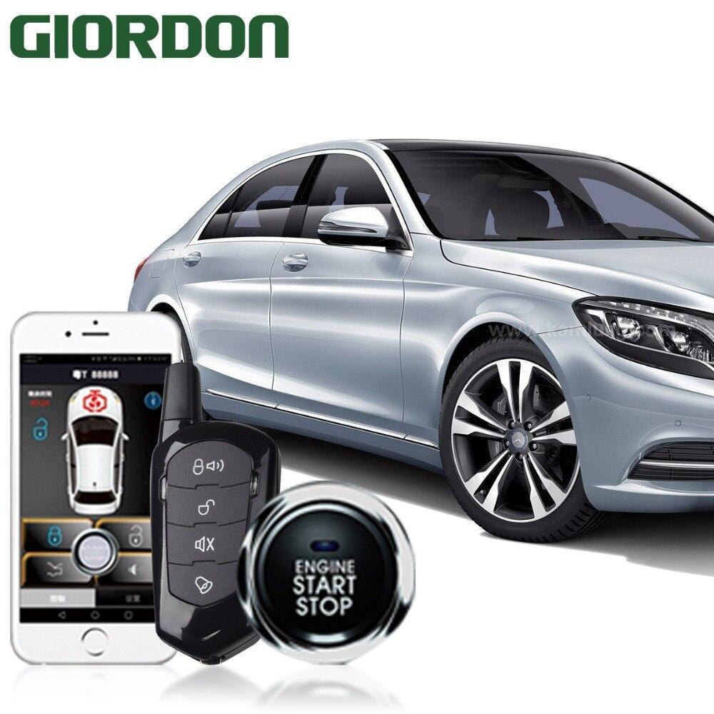 SmartPhone Control PKE Car Alarm System Kit Smart Passive Auto Central Locking Car Door Keyless Push Remote Button 900A