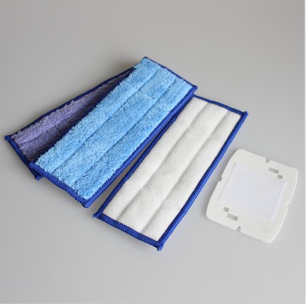 6pcs/Lot Microfiber Washable wet & damp & dry sweeping Pad mopping pads cloth for iRobot Braava Jet 240 replacement reuseable  microfiber wet room pads 24 in long split nylon polyester blend blue