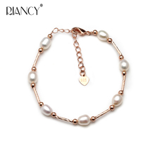 Fashion Charm Bracelet Natural Freshwater Multicolor Pearl white Jewelry for Women wedding gift