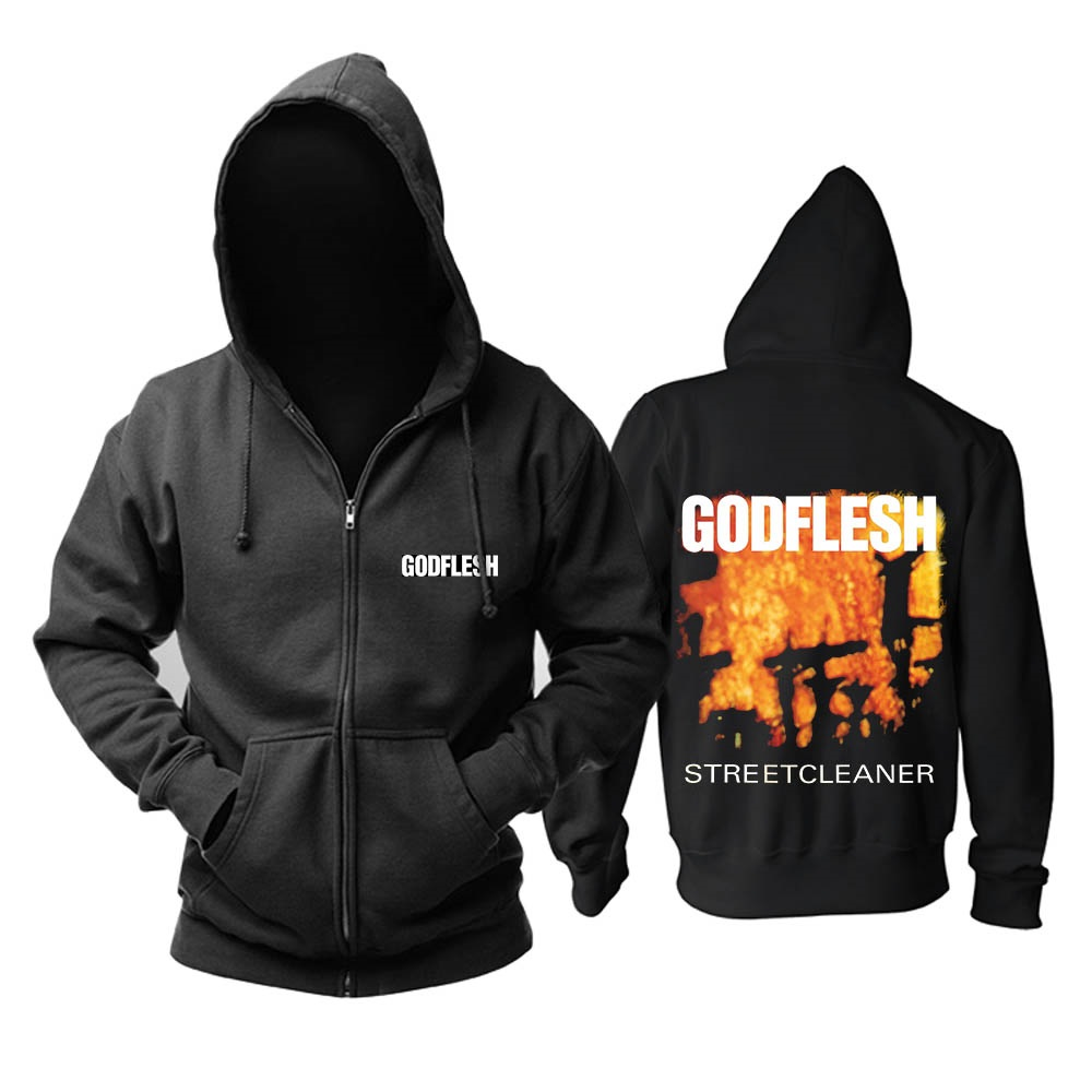 Zipper Designs Rock Nice Anglais Chaud Polaire 2 Hoodies 1 Doux Sweat 2 Bande De Métallique Punk Industrielle Sweat Godflesh Noir Et shirt g5Swqdw