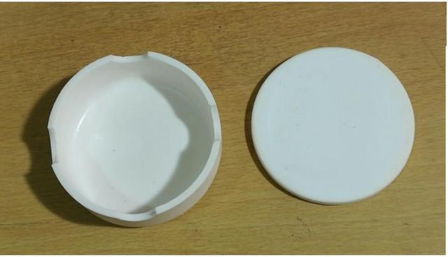 1 unid con cubierta de coronas de circonio de alta pureza crisol sinterizada para flosser dental crisol Crisol con tapa