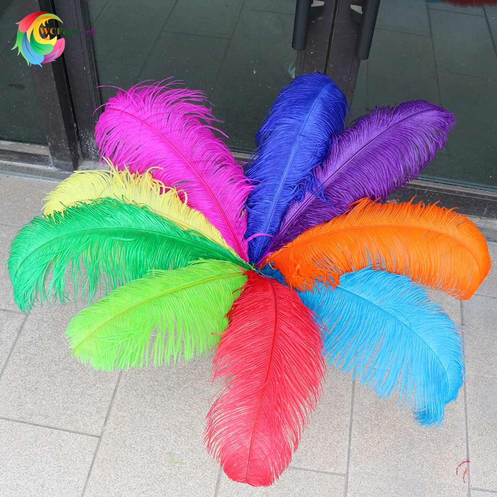 Wholasale 10pcs lot high quality colorful ostrich feathers 60 65cm 24 26inch Wedding party Carnival decoration
