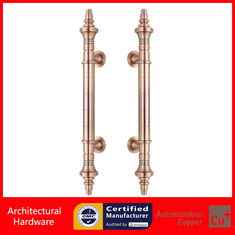 Durable Entrance Door Handle Antique Copper Pull Handles PA-829-32*510mm For Glass,Wooden,Metal Frame Doors entrance door handle high quality stainless steel pull handles pa 121 38 500mm for glass wooden frame doors