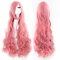 Women's Fashion Wig Curly Hair Wigs With Bangs Pink Long Hair Wig HB88