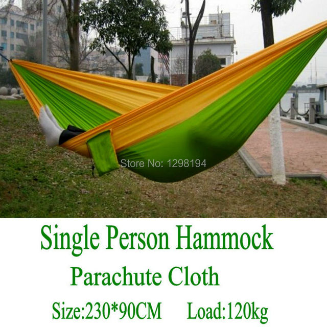 High Quality Portable Hammock Garden Outdoor Camping Travel Furniture Survival Hammock Swing Sleeping Bed For Single Person
