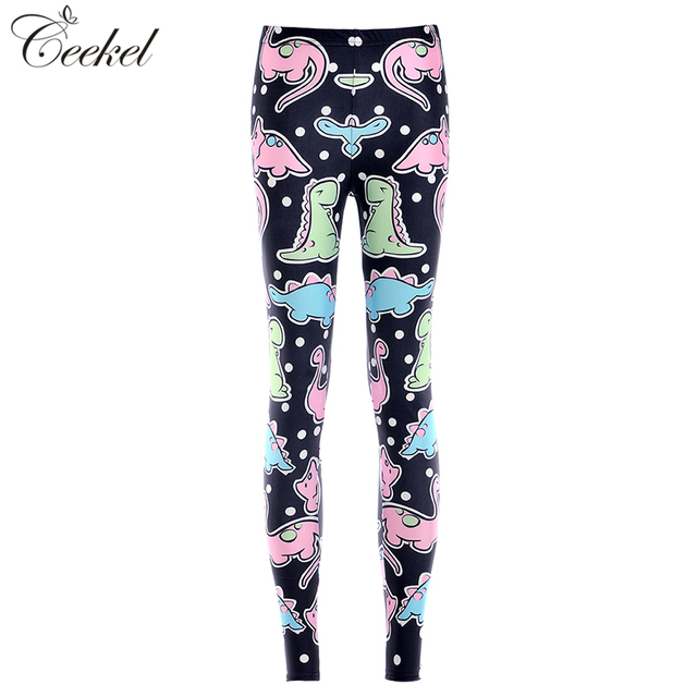 Small Dinosaur Cartoon 3D Printed Fitness Leggings Push Up Plus Size Women  Pants Sexy Slim Jeggings Workout Leggins Mujer S-4XL fc354daac66d