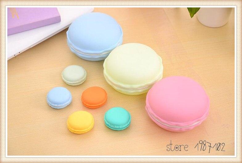 20pcs/Lot Mini clips dispenser Macaron storage box Candy organizer for eraser zakka Gift Stationery Office school supplies