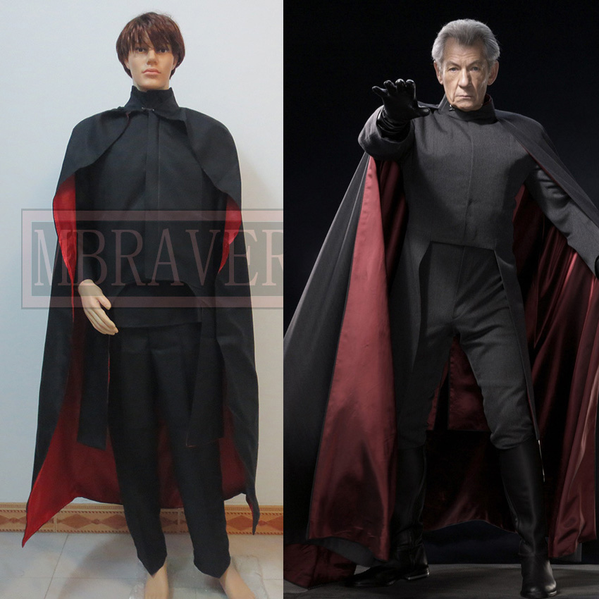 Custom Made X-Men Magneto Uniform Movie Cosplay Costume For Halloween Party