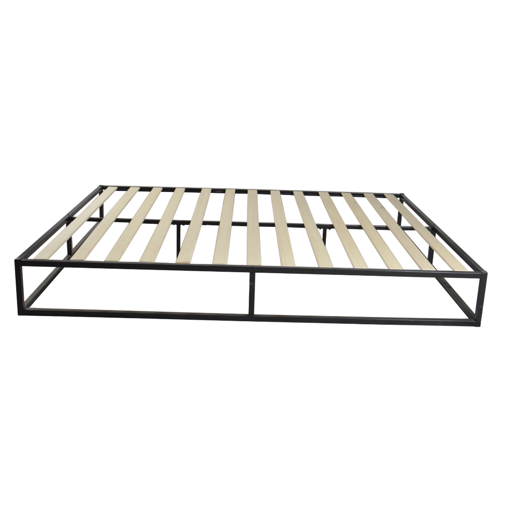 Simple Iron Metal Bed with Slat Full Size Black DropshippingSimple Iron Metal Bed with Slat Full Size Black Dropshipping