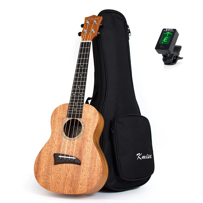 Kmise Solid Mahogany Ukulele Concert Ukelele 23 inch 18 Frets Rosewood Fingerboard 4 String Hawaii Guitar with Gig Bag Tuner 12mm waterproof soprano concert ukulele bag case backpack 23 24 26 inch ukelele beige mini guitar accessories gig pu leather