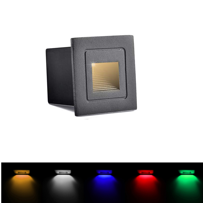Led Wall Lamp 3W IP65 LED Stair Light Step Light Recessed Buried Lamp Indoor/ Outdoor Waterproof Staircase Step Lights AC85-265