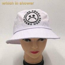 Que en la ducha plana sombrero para los hombres y las mujeres chico triste  Panamá llorar cara de algodón sombrero de sol chino c. 370ca74878a
