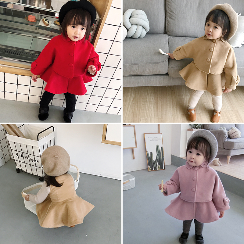 Фото Girls Winter Princess Dress Children Fragrant Two Piece Group Thickened Small Baby Long Sleeved Girls Clothes