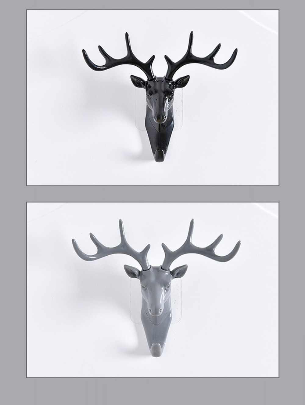 แขวนผนัง Hook VINTAGE Deer HEAD Antlers สำหรับแขวนเสื้อผ้าหมวกผ้าพันคอคีย์กวาง Horns แขวนผนังตกแต่ง
